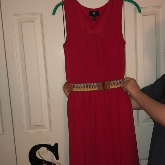 Iz Byer Dresses & Skirts - Red dress with cute belt